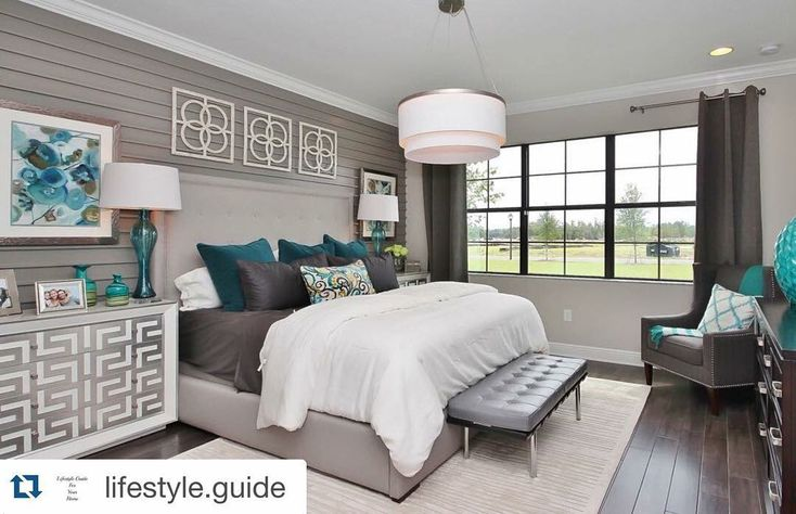 Property Brothers - Beautiful neutral master with pops of color.