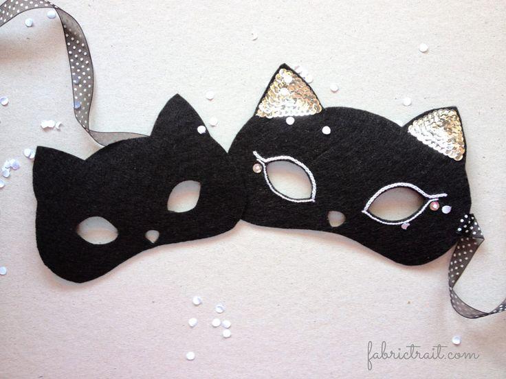 #Carnaval 2015 por Fabric Trait - #máscara de #gato em #feltro | #Carnaval 2015 by #fabrictrait - #cat #mask in #felt