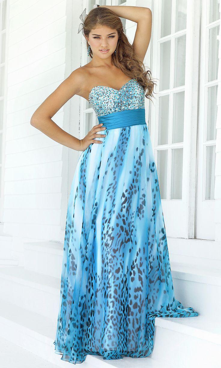 Blue Leopard Print Prom Dress | Dress images