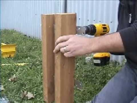 Wring Steel Posts With Wood When Building Fence Gardening In 2018 Pinterest Chain Link And Post