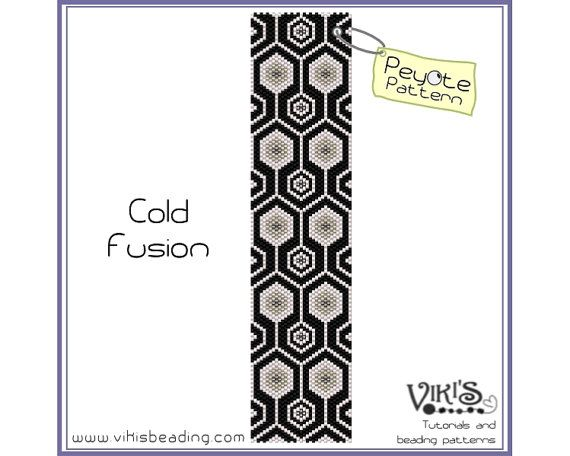 Peyote Bracelet Pattern: Cold Fusion - INSTANT DOWNLOAD pdf - 3 for 2 offer  with coupon codes