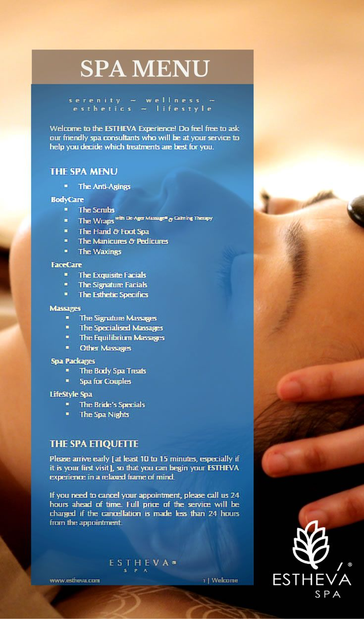 Take To Time To Explore Our Spa Menu For Some Of The Most Indulging Spa  Treatments