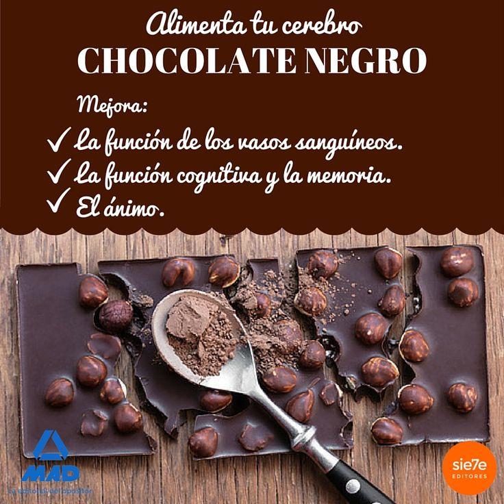 Chocolate, chocolate negro, beneficios del chocolate, dieta chocolate, alimentos para el cerebro, endorfinas, subir el ánimo, propiedades del chocolate
