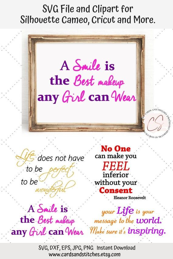 Inspirational Sayings Svg Bundle Cuttable File For Silhouette And Cricut Girl Power Clipart Svg File Dxf Jpg Eps Png Clip Art Cricut Free Birthday Stuff