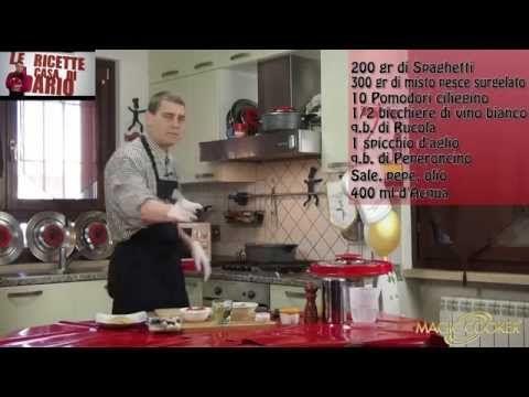 Spaghetti allo scoglio con preparato pronto surgelato con Magic cooker 192 - YouTube