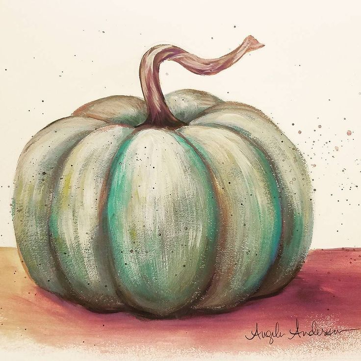 Pumpkin Acrylic Tutorial LIVE Painting #autumn #pumpkin #painting #art #artist