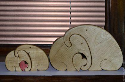 Статуэтки ручной работы. Ярмарка Мастеров - ручная работа. Купить Влюбленные слоны. Handmade. Слоны, сердце, влюбленные, дерево