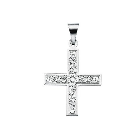 15 best gold cross pendants images by joy jewelers on pinterest 14kt white gold 34in ornate greek cross mozeypictures Choice Image