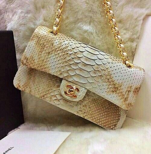 d8fa71b9a31c Chanel snake skin flap Bag #chanel #designer #bags | accessories in ...