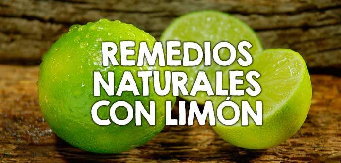 Remedios caseros con limón