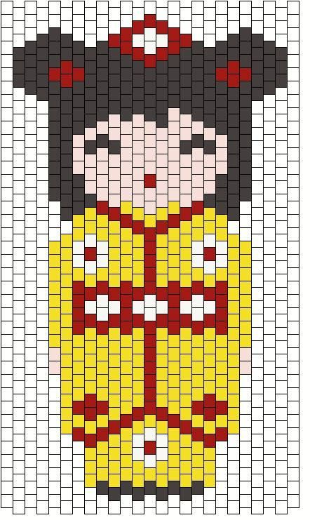 Kokeshi doll bead pattern