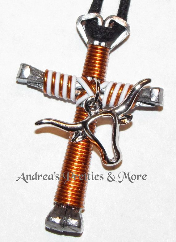 Disciples Cross Horseshoe Nail Necklace  by AndreasPrettiesNMore, $11.00