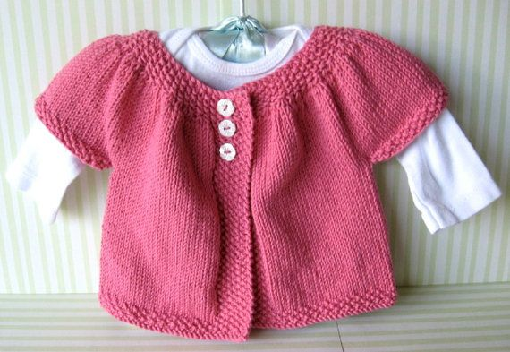 Pink Knit  Baby Sweater by individualababy on Etsy, $26.00