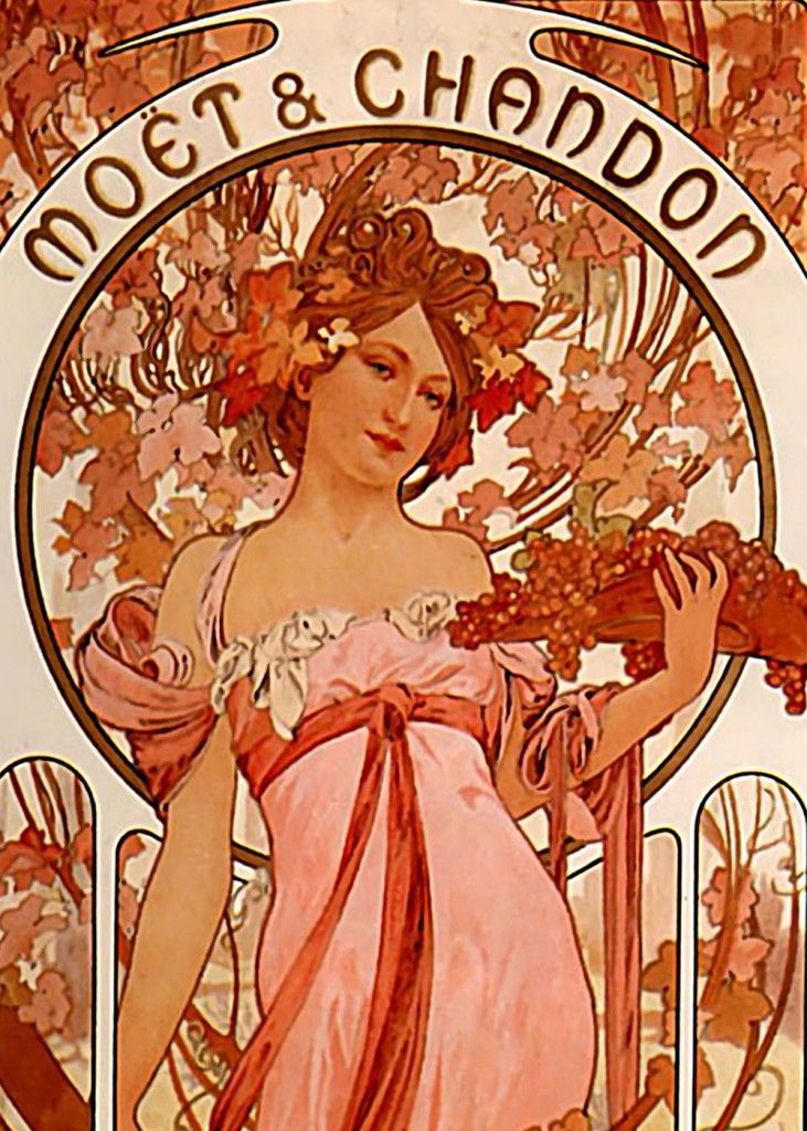 Art Nouveau Moet Chandon