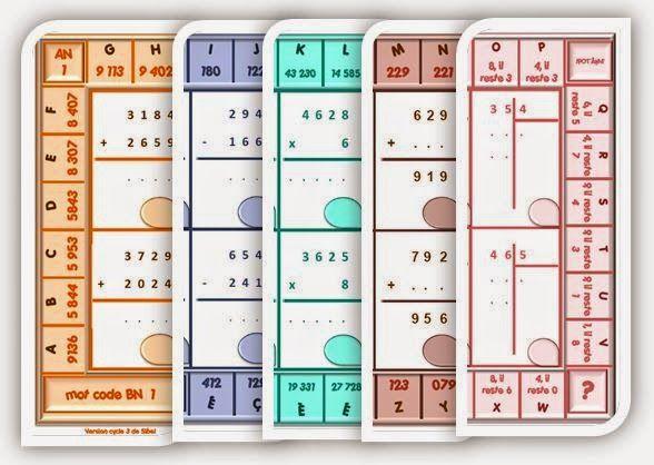IPOTÂME ....TÂME: CE2 CM1 calcul autonomie : le jeu du code
