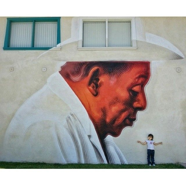 mac_arte Nice shot by @fernandopassion of mural in Coachella, CA for the anonymous farmworker.. #nuestragente #usingtheimagination