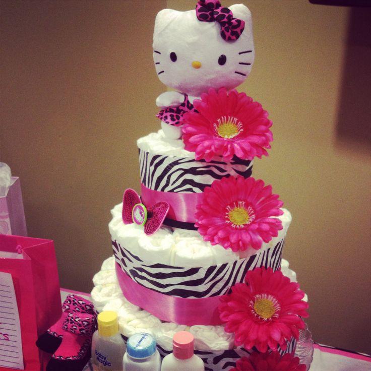 hello kitty diaper cake diaper cakes pinterest diaper cakes
