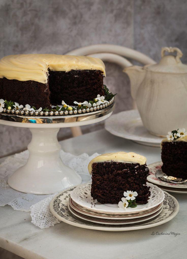 Tarta de Guinness y chocolate | La Cucharina Mágica