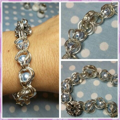 Chainmaille charm bracelet By Anna-Marie