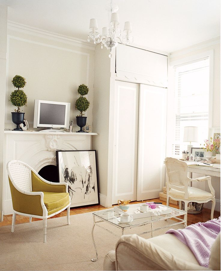 ivory bedroom with golden yellow accent chair, pantone coconut milk, ivory, off white