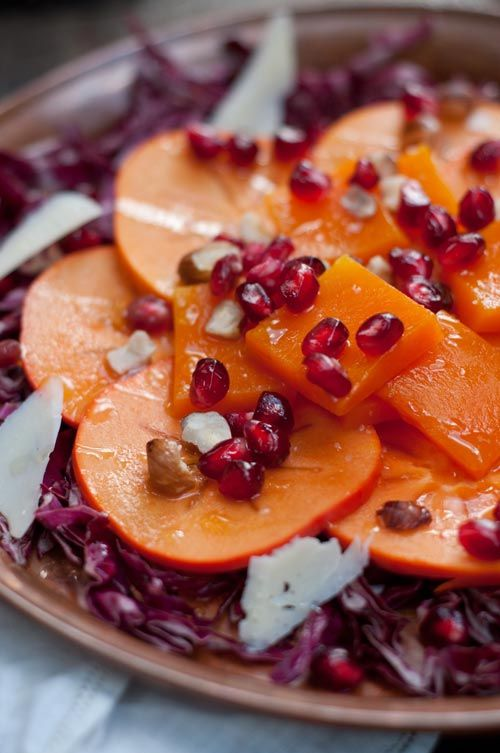 persimmon, butternut squash + pomegranate salad | Autumn ...