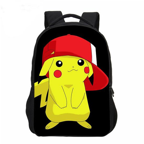 Pikachu with red hat backpack