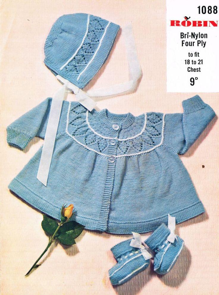 Lace Yoke Knitting Pattern : 1000+ images about Vintage baby on Pinterest Dress ...