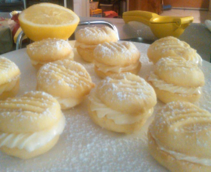 Melting Moments- short bread like biscuit with lemon buttercream icing