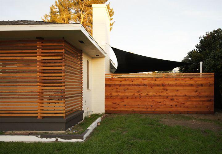 Slat screen fence amazing sail shade top diy project