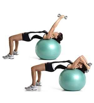 yoga ball tricep exercise! Also works out hamstrings, glutes and abs healthandfitnessnewswire.com