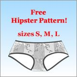 Let us hope that this underwear pattern does not come with any people-hipsters. via makebra.com.
