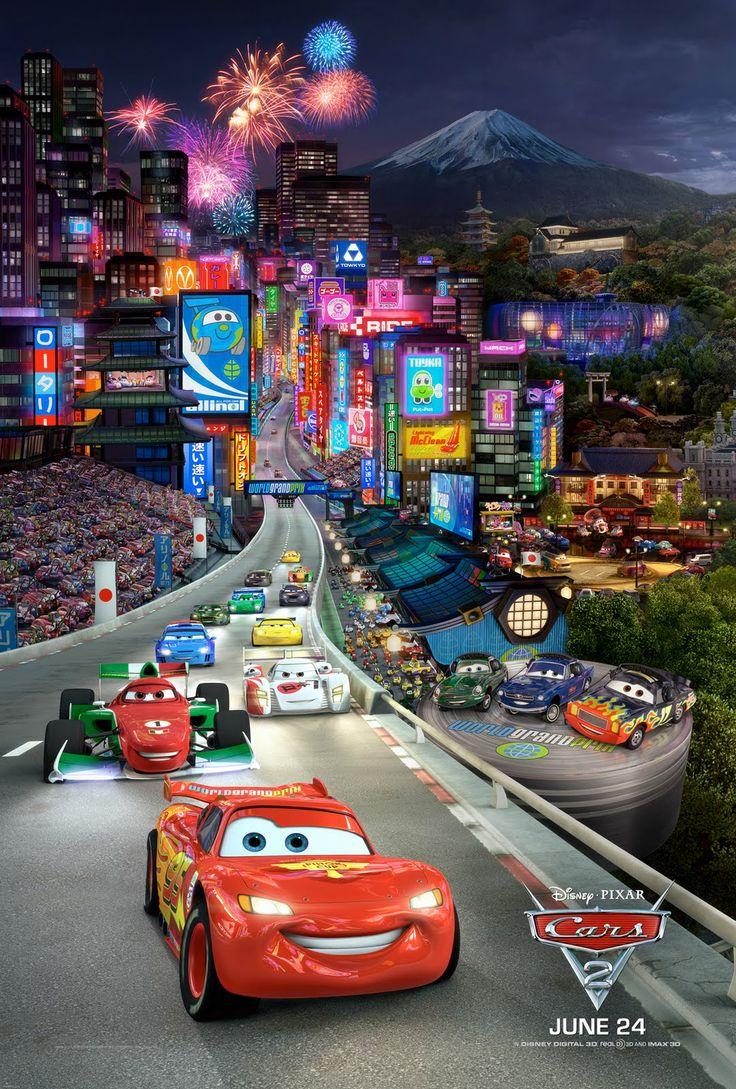 Pixar disney cars 2 movie poster type 3 8 1 x 11