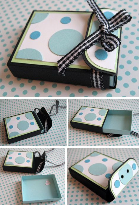DIY matchboxes/mini gift boxes - free template