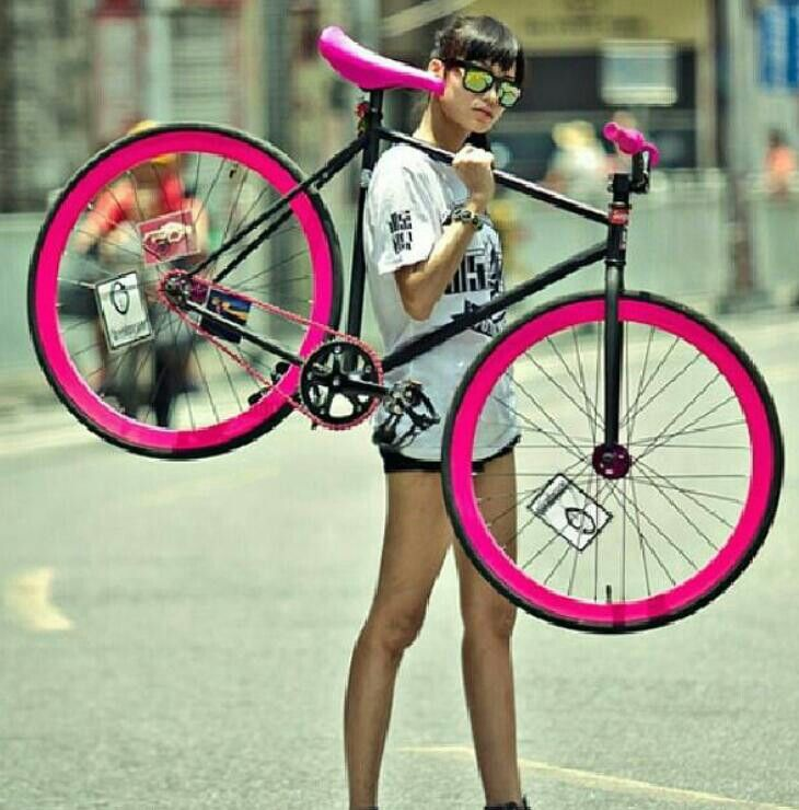 Hot pink bike - KB bike! love it!