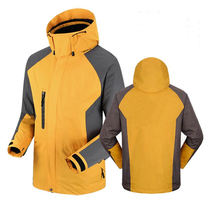 Outdoor High-end three laminated rubber Outdoor waterproof ski-wear male two-piece Mountaineering wear winter ski suit