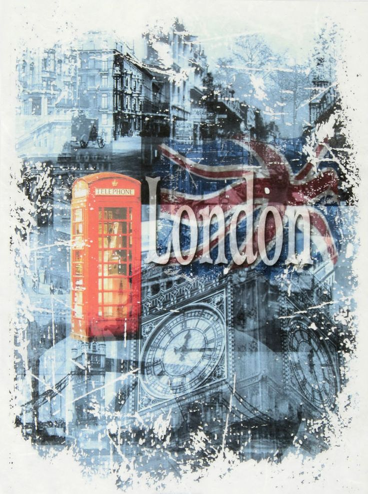 Ricepaper,Decoupage,Scrapbooking Sheets /Craft Paper Vintage London Phone Booth