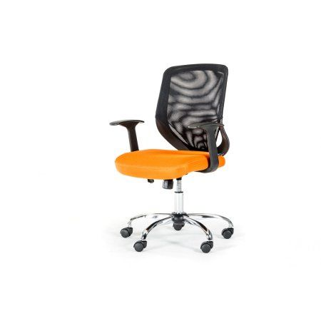 Bold Black and Orange Mesh Office Chair