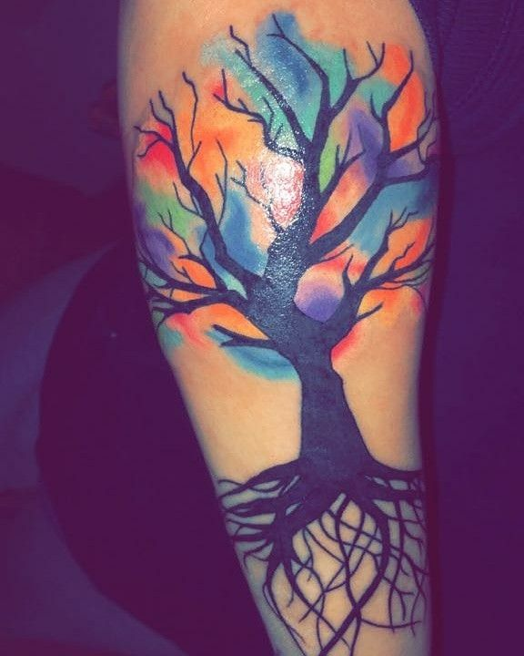 Watercolor Tree Of Life Tattoo Life Tattoos Tattoos Tree Of Life Tattoo
