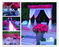 purple and fuschia wedding flowers bouquets | Fuschia Wedding from Hidden Garden Flowers .