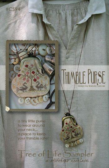Tree of Life Thimble Purse Cross Stitch Pattern
