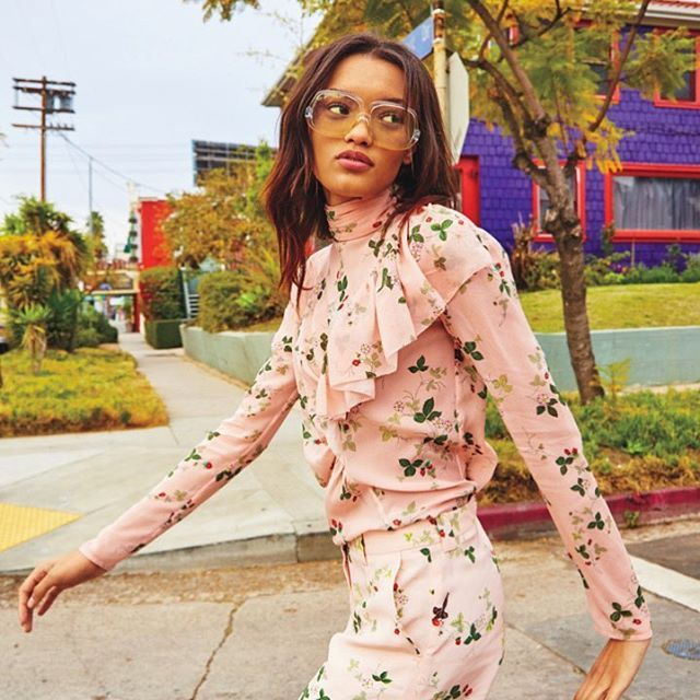 Work it. Our #TopshopUnique SS16 shirt is effortlessly cool and forever pretty as worn by the gorgeous Lameka Fox in Teen Vogue. #Topshop