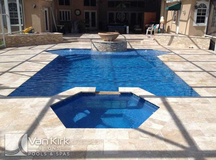 Classic And Straight Line 16   A Beautiful Natural Looking Straight Line  Pool Featuring Stacked Stone