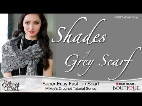 ▶ Crochet the Shades of Grey Scarf Tutorial - YouTube