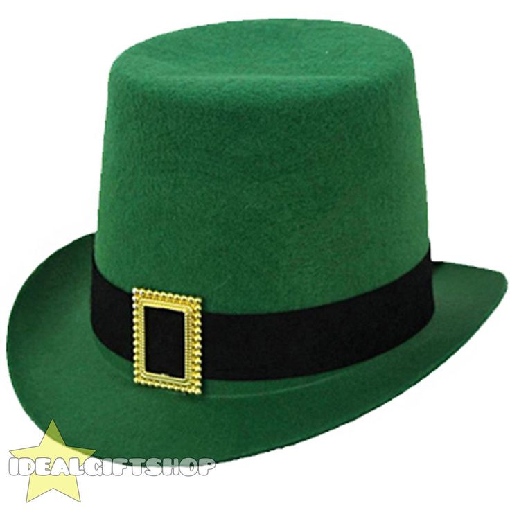 IRISH TOP HAT ST PATRICKS DAY LEPRECHAUN FANCY DRESS IRELAND SUPPORTER ACCESSORY  | eBay
