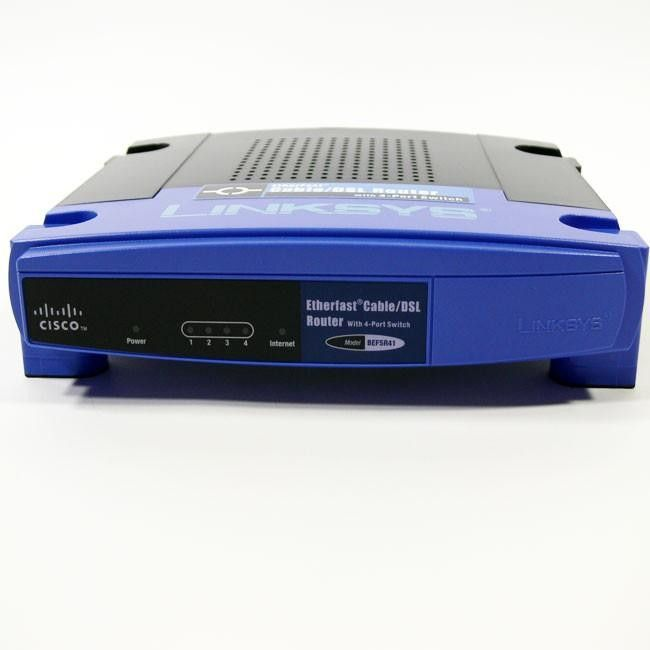 Linksys Router LAN EN 4-Ports Switch 10-100Mbps WAN Cable-DSL 1-Port 10Mbps BEFSR41