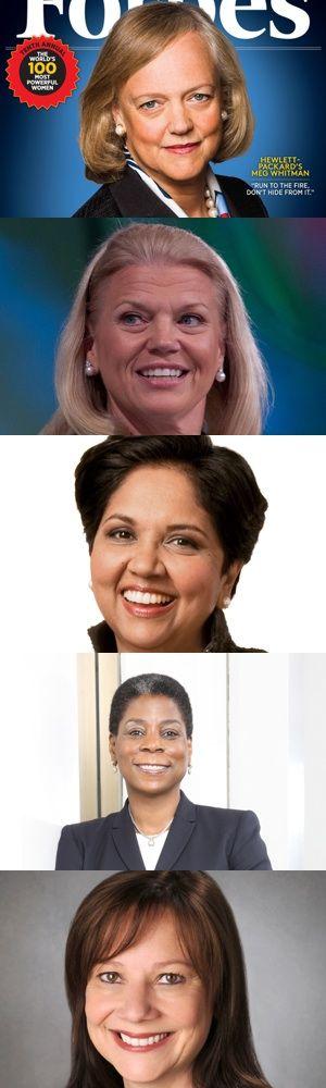 Cinque potenti amministratori delegati donne.