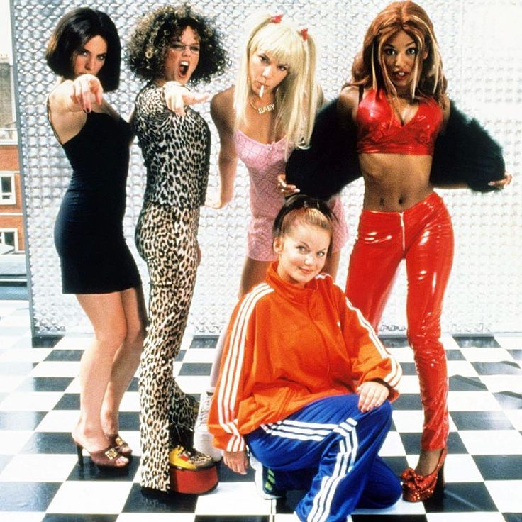 Spice Girls pictured on the set of Spiceworld: The Movie, 20 years ago today, on June 24th, 1997
