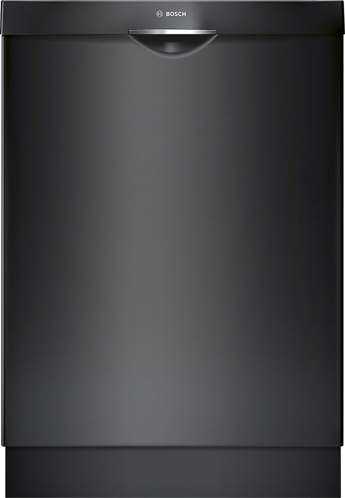 Bosch 300 Series 24 Pocket Handle Dishwasher With Stainless Steel Tub Black Shsm63w56n Best Buy Black Dishwasher Steel Tub Integrated Dishwasher