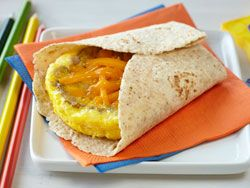 Egg, Sausage, and Cheddar #Breakfast Tortilla #Recipe