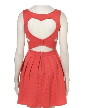 Rib Heart Back Dress...............great for summer...........